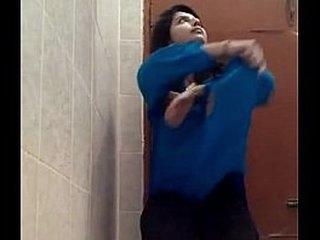 Indian Teen Beauty Fingering infront of Cam on Bathroom Floor