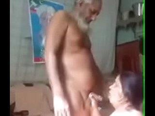 Paki oldman with maid