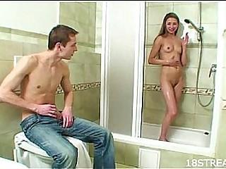 Wet pleasures during shower