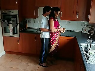 Red saree Bhabhi caught watching porn seduced and fucked by Devar dirty hindi audio desi chudai leaked scandal sextape bollywood POV Indian
